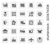cargo and shipping vector icon... | Shutterstock .eps vector #323676338