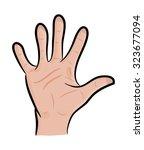 image of cartoon human hand ...   Shutterstock .eps vector #323677094