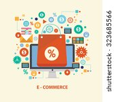 e commerce concept design on... | Shutterstock .eps vector #323685566