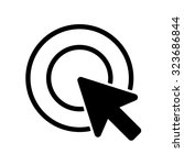 cursor icon . vector... | Shutterstock .eps vector #323686844