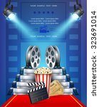 cinema background with tickets  ... | Shutterstock .eps vector #323691014