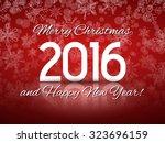 2016 happy new year... | Shutterstock .eps vector #323696159