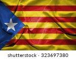 catalonia flag. illustration | Shutterstock . vector #323697380