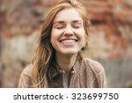 autumn outdoor closeup warm... | Shutterstock . vector #323699750
