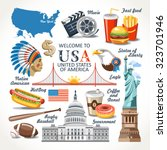 welcome to united states of... | Shutterstock .eps vector #323701946