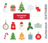 christmas set. | Shutterstock .eps vector #323703800