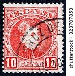 spain   circa 1900  a stamp...   Shutterstock . vector #323707853