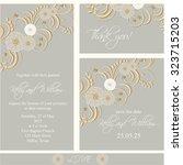 wedding invitation  thank you...   Shutterstock .eps vector #323715203