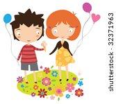 children in summer | Shutterstock .eps vector #32371963