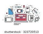 flat style  thin line art... | Shutterstock .eps vector #323720513