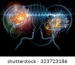 human tangents series. backdrop ... | Shutterstock . vector #323723186