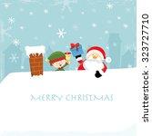 merry christmas   Shutterstock .eps vector #323727710