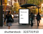 outdoor advertising bus shelter  | Shutterstock . vector #323731910