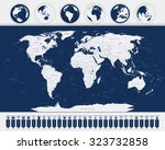 world map and navigation map... | Shutterstock .eps vector #323732858