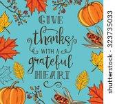 Hand Drawn Thanksgiving Vintag...