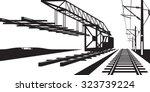 construction of railway track   ... | Shutterstock .eps vector #323739224