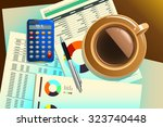 a vector illustration of cup of ... | Shutterstock .eps vector #323740448