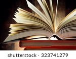 Small photo of Composition with hardcover books. Literature and education.