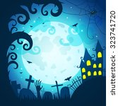 halloween poster and card.... | Shutterstock .eps vector #323741720