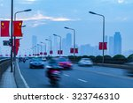urban transport and haze | Shutterstock . vector #323746310