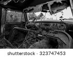 Black And White View Inside An...