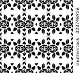 floral and leaf nature pattern. ... | Shutterstock .eps vector #323748926