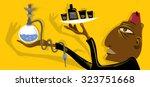 arabic cafe  hookah  coffee... | Shutterstock .eps vector #323751668
