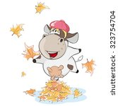 a small cow. cartoon | Shutterstock .eps vector #323754704