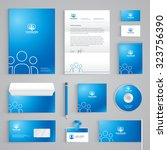 corporate identity branding... | Shutterstock .eps vector #323756390