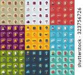 flat concept  set modern design ... | Shutterstock .eps vector #323756726