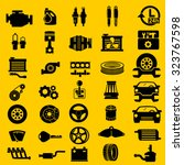 vector car parts set icons  | Shutterstock .eps vector #323767598