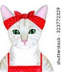 Portrait Of The Cute Cat Girl...