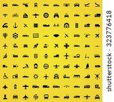 transportation 100 icons... | Shutterstock . vector #323776418