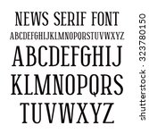 serif font in newspaper style.... | Shutterstock .eps vector #323780150