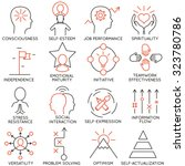 vector set of 16 icons related... | Shutterstock .eps vector #323780786