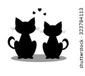 Stock photo silhouette cats 323784113