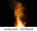 smithy fire flame tips with... | Shutterstock . vector #323786633