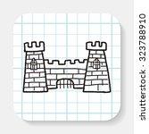 castle doodle | Shutterstock .eps vector #323788910