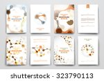 set of brochure  poster... | Shutterstock .eps vector #323790113