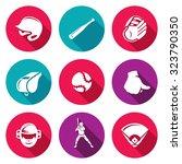 baseball icons set. vector... | Shutterstock .eps vector #323790350