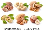 nuts collage | Shutterstock . vector #323791916