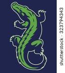 crocodile reptile mascot | Shutterstock .eps vector #323794343