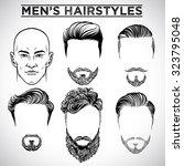 men hairstyles | Shutterstock .eps vector #323795048