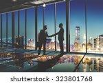 2 multi ethnic businessmen... | Shutterstock . vector #323801768