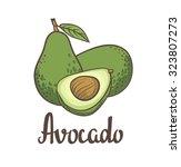 avocado  half of avocado ... | Shutterstock .eps vector #323807273