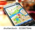 mobile gps navigation concept....   Shutterstock . vector #323807846