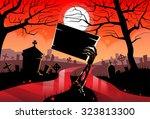 zombie dead skeleton hand hold... | Shutterstock .eps vector #323813300
