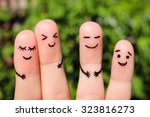 finger art of friends. the... | Shutterstock . vector #323816273