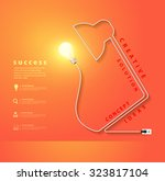 vector desk lamp shaped... | Shutterstock .eps vector #323817104