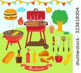 barbecue party vector design... | Shutterstock .eps vector #323818304